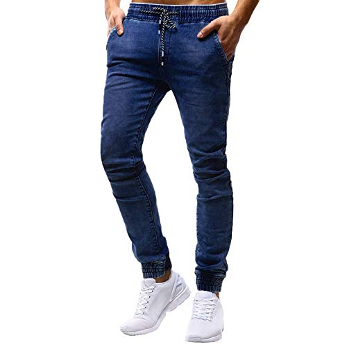 Mens Fashion Casual Vintage Elastic Wash Disstressed, used for sale  Delivered anywhere in USA
