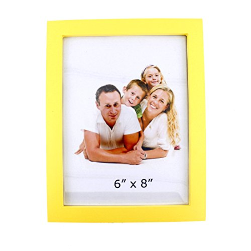 Zhenzan Frames 6x8 inches Rectangular Desktop and Wall Hanging Picture Frame with Glass Front (6