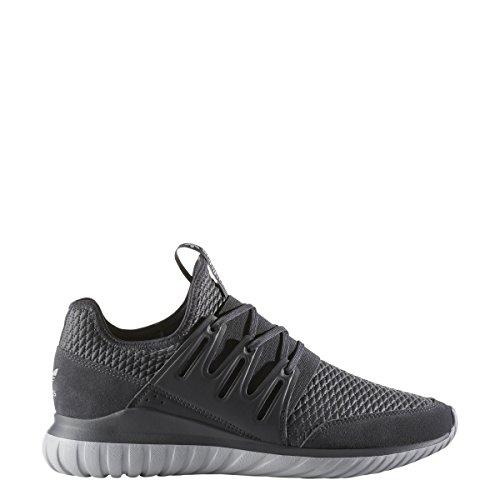 Adidas Originals Mens Shoes   Tubular Radial Fashion Sneakers  Dark Grey Heather Dark Grey Heather Medium Grey Heather   9 M Us