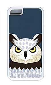 iPhone 5C Case, Personalized Custom Rubber TPU White Case for iphone 5C - Eagle Owl Cover