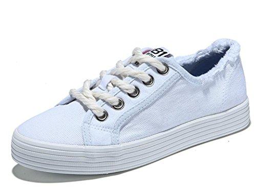 WHITE 39 De Plano Señora Movimiento Colores Zapatos Confort Zapatos Zapatos Estudiantes White De Escuela Gruesos Bajo XIE 35 Fondo Cuatro Cómodo 8HwUqX