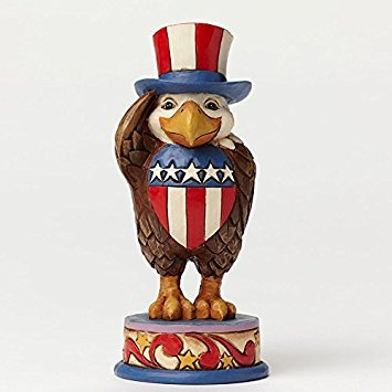 Jim Shore Plush - Jim Shore Heartwood Creek Pint Size Patriotic Eagle Stone Resin Figurine, 5.25