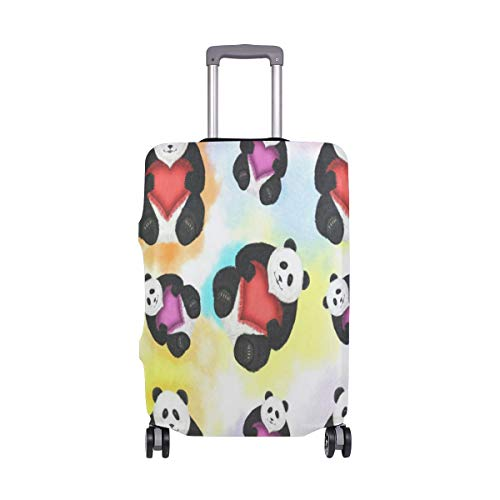 Suitcase Cover Panda Luggage Cover Travel Case Bag Protector for Kid Girls (Sofa Grill)
