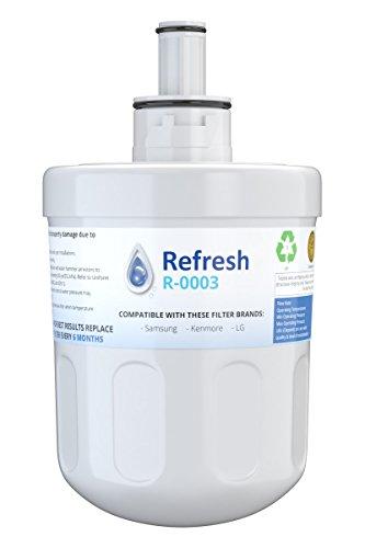 Refresh Replacement for Samsung Aqua-Pure Plus DA29-00003G, DA29-00003A, DA2900002B, DA2900003, DA2900003F, DA290002, HAFCU1, HAFIN2 and Waterdrop WD-DA-29-00003G Refrigerator Water Filter (1 Pack)