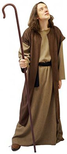 CL COSTUMES Nativity-Bible-World Book Day Shepherd/Disciple with Crook Child's Fancy Dress – All Ages (Age 9-10) ()
