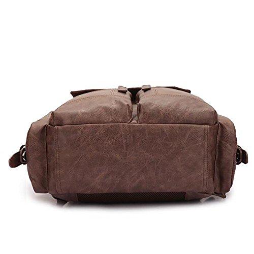 Mochila bolsos de hombro ocio al aire libre hombres café 26 * 27 * 12