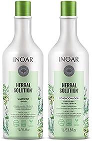 Inoar Herbal Solution Kit Shampoo e Condicionador Suave 1 Litro