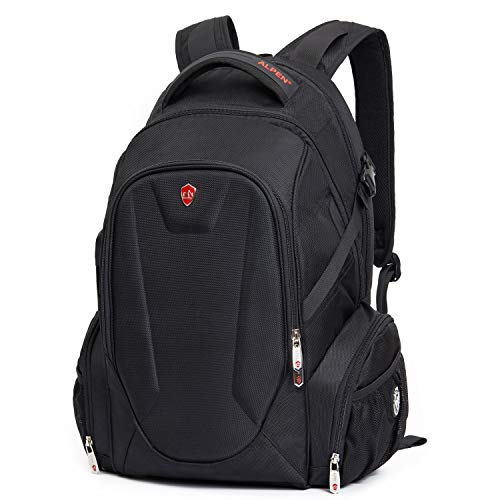 Swiss Alpen - Blanc Backpack - Water Resistant Durable 1680D Large Laptop  Backpack for Travel fc1c760d3a050