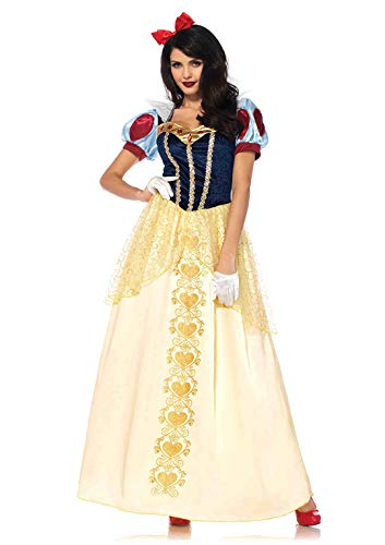 Sexy Classic Snow White Adult Womens Costumes - Leg Avenue Women's 2PC.Deluxe Snow, Multi,