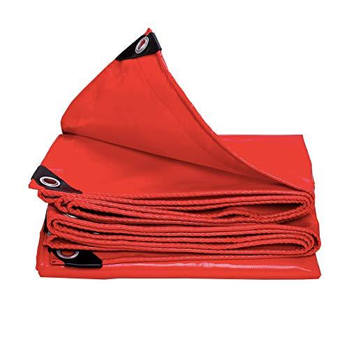 遠洋の言及する起きるKKCF オーニング耐寒性防塵の日焼け止めシェード耐酸性と耐アルカリ性屋外カーポートポリ塩化ビニル 、420 / M2 、17サイズ (色 : Red, サイズ さいず : 2.8x7.8m)