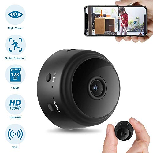 🥇 Spy Camera WiFi Hidden Camera Mini Home Security Surveillance Nanny Cam with Night Vision and Motion Detection for iPhone Android Remote Monitor