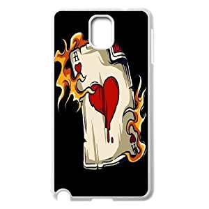 wugdiy Custom Case for Samsung Galaxy Note 3 N9000 with Personalized Design Fire Heart