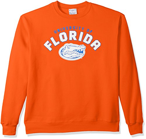 NCAA Florida Gators Men's Power Blend Fleece Crew Neck Sweatshirt, X-Large, Orange