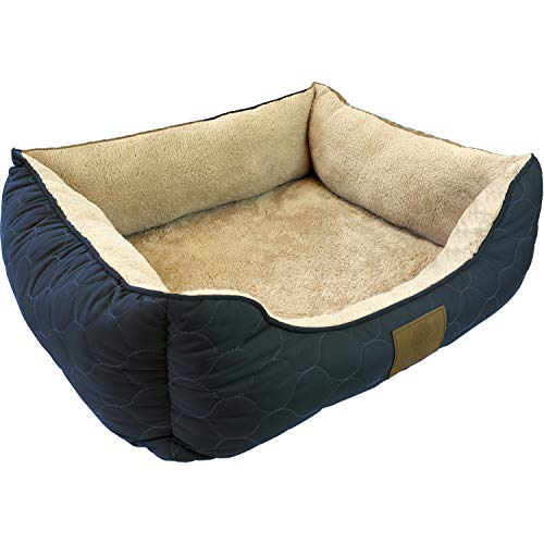 Cuddler Pet Bed - American Kennel Club Orthopedic Circle Stitch Cuddler Pet Bed, Gray
