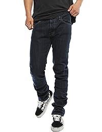 TheMogan Men's Black Indigo Tiger Raw Denim 5 Pocket Slim Skinny Jeans USA