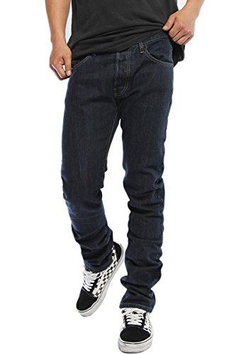 TheMogan Men's Basic Indigo Washed Premium 5 Pocket Slim Skinny Jeans Indigo 30 Mens Basic 5 Pocket Denim