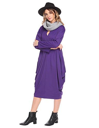 SE MIU Women's Cocoon Midi Dress With Pocket - Made In - Usa Miu Miu