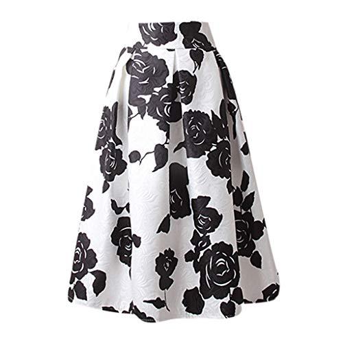 Skirt Jacquard Pleated - Sunhusing Ladies Casual Side Zipper Waist Mid-Length Pleated Skirt Jacquard Cloth Print Mini Skirt White