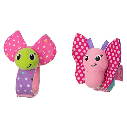 Infantino Baby Bugs (Infantino Wrist Rattles, Butterfly and Lady)