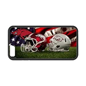 NCAA Arkansas Razorbacks Logo Helmet And Flag Cover for iPhone 6 4.7 by Maris's Diary