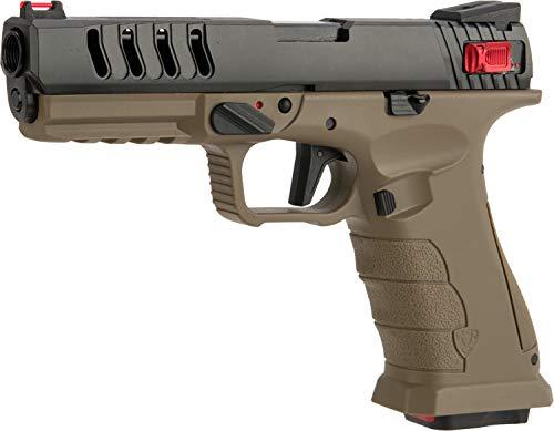 Evike APS Shark Full Automatic Select-Fire CO2 Gas Blowback 4.5mm Air Pistol (Color: Desert) - (Airgun NOT an Airsoft Gun)