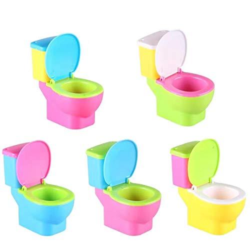 GREATLOVE Mini Toilet Toys Toilet Gift - Small Toilet Assembly Toy (Random Colors / 1pcs)