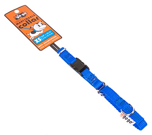 Product image of GoGo Pet Products GoGo 3/8-Inch Martingale Dog Collar, X-Small, Blue