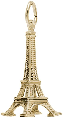 (Rembrandt Large Eiffel Tower Charm - Metal - Gold-Plated Sterling Silver)