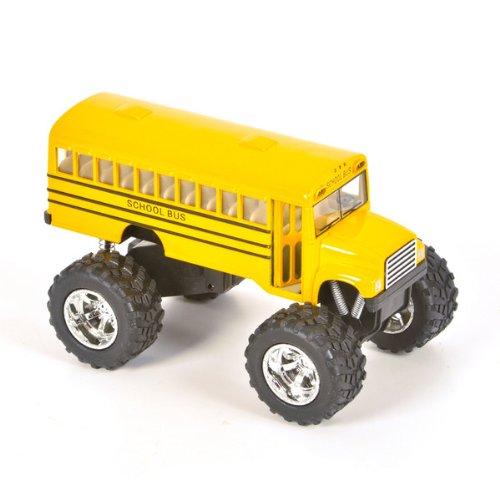 Big Wheels 5 Inch Metal Diecast Monster Truck School Bus By Bulk Buys