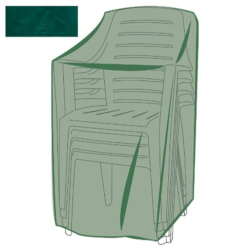 Outdoor Furniture All-Weather Cover for Stacking Chairs, in Green by Plow & Hearth