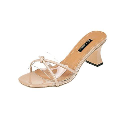 WHLschuhe Damen-Hausschuhe Bug Damen Sandalen Und Hausschuhe Sommer High Heels Mode Einfach Und Komfortabel