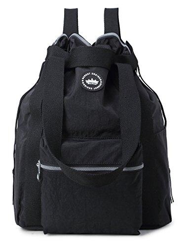 epellent Convertible Multipurpose Backpack (Large, Black) (Convertible Slip Tote)
