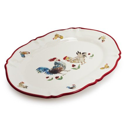 Sur La Table Jacques Pepin Collection Oval Chicken Platter 2016/39 X 29