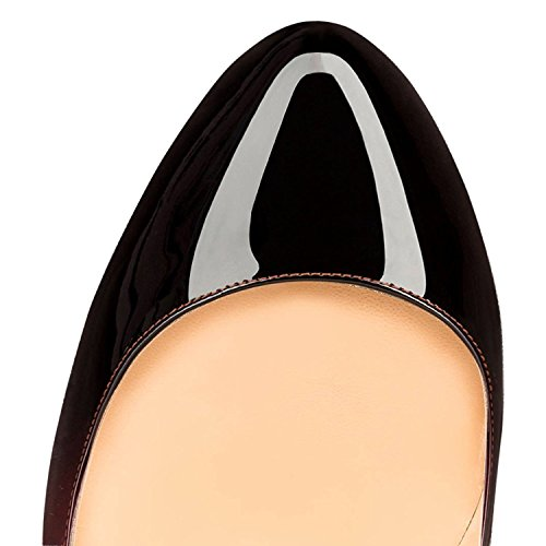 EDEFS Womens Round Toe Cut-outs Pumps Slip On Court Shoes Gradient IlVm9e