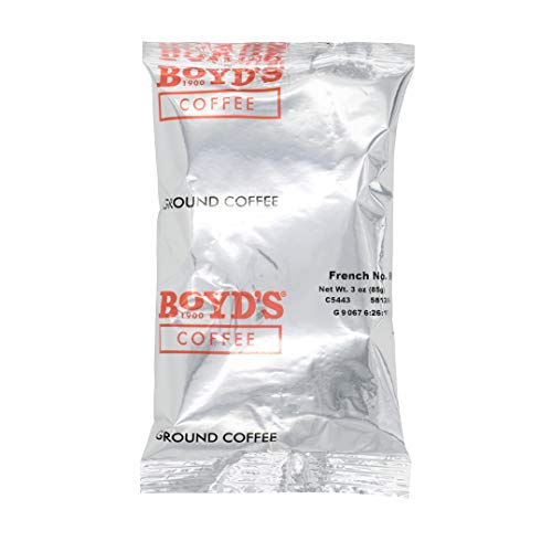 Boyd's French No. 6 Coffee - Ground Dark Roast - 3-Oz Portion Packs (Pack Of 40) from Boyd's Coffee
