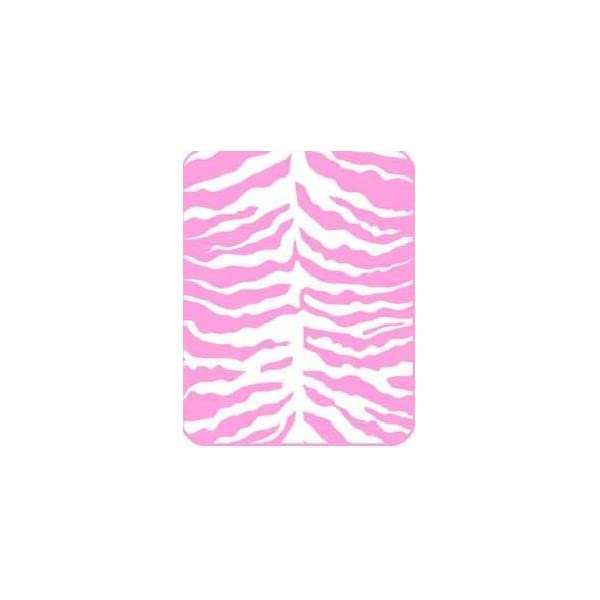 Regal Comfort Pink Zebra Print Acrylic Mink Crib Baby Blanket