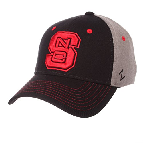 - Zephyr NCAA North Carolina State Wolfpack Men's Duo Hat, Medium/Large, Black/Gray