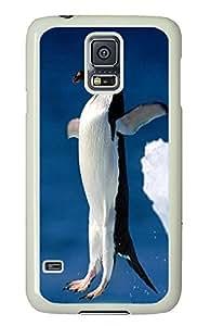 Samsung Galaxy S5 protective cover Penguin Pencil Dive Animal PC White Custom Samsung Galaxy S5 Case Cover