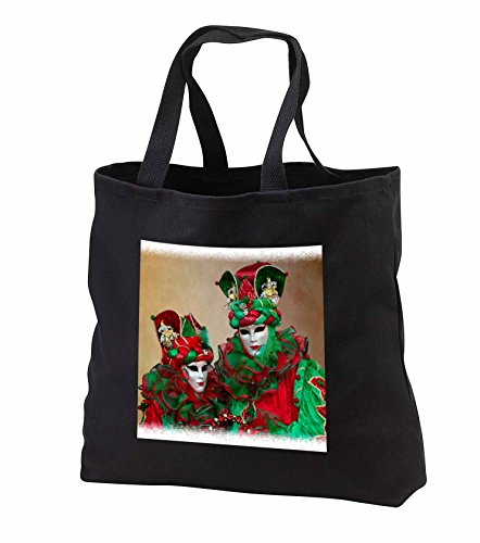 Carnival Of Venice Italy Costumes (Danita Delimont - Venice Carnival - Elaborate masked costume for Carnival, Venice, Italy 04 - Tote Bags - Black Tote Bag JUMBO 20w x 15h x 5d (tb_249192_3))