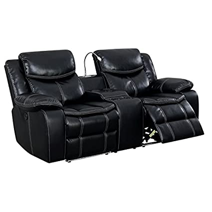 Furniture Of America Stanton Faux Leather Power Reclining Loveseat