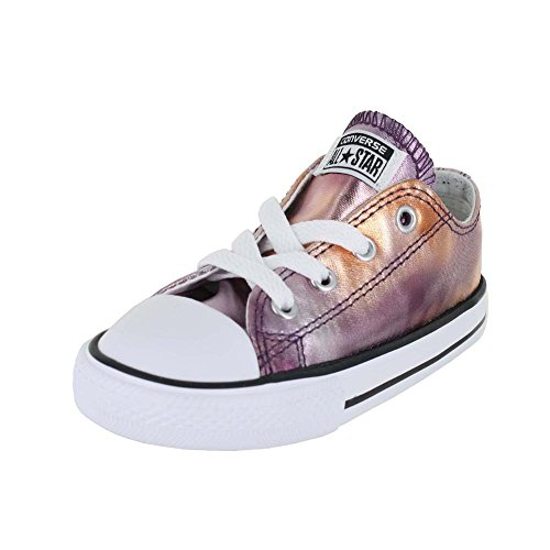 CONVERSE TODDLER ALL STAR LOW INF DUSK PINK WHITE BLACK SIZE 9](Toddler Converse Shoes Size 9)