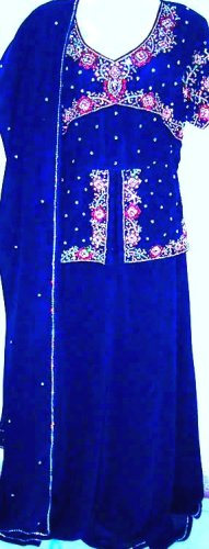 LOVELY SEQUINS HANDWORK EMBROIDERY LEHENGA SKIRT SALWAR KAMEEZ INDIAN DRESSES XS-PLUS (PLUS)