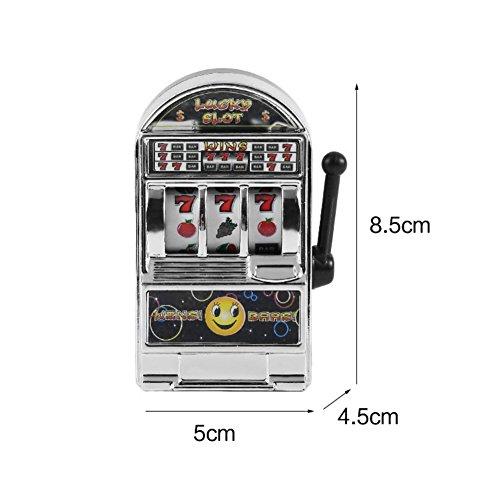 Wenasi Creative Mini Slot Machine Toys, Novelty Decompression Toys(Silver) (Slot Machine Toy)