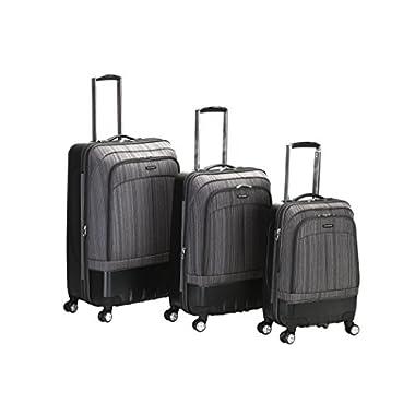 Rockland Luggage Milan Hybrid Eva 3 Piece Luggage Set, Grey, One Size