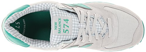 New Balance Mens ML574 Picnic Pack Collection Classic Sneaker Grey/Green PEnbNe