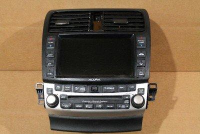 ACURA TSX V Navigation SCREEN RADIO CD AC CLIMATE Import - 2005 acura tsx aftermarket radio