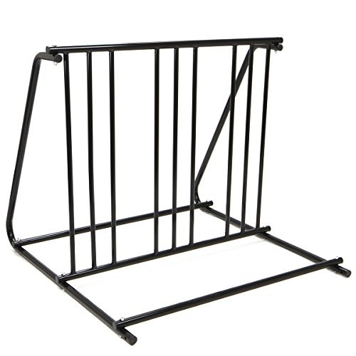 XtremepowerUS Floor Mount Bicycle Parking Storage Rack Stand Up to 6 Bikes