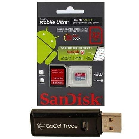32 GB SanDisk microSD HC MicroSDHC tarjeta de memoria Clase 10 32 ...