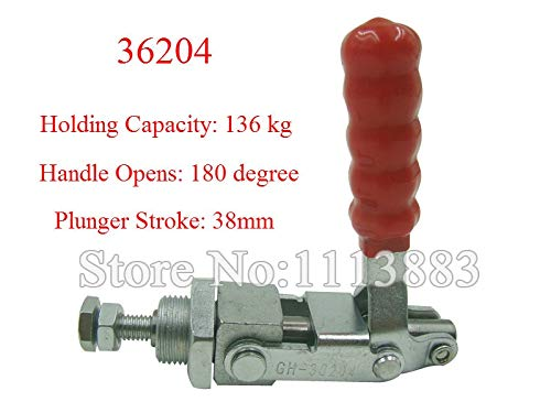 Ochoos 3PCS Push Pull Type Toggle Clamp 36204 Holding Capacity 136KG 300LBS Plunger Stroke 38mm