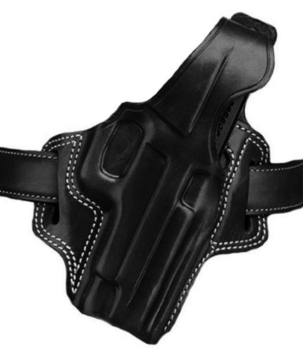 Galco Fletch High Ride Belt Holster for 1911 4-Inch, 4 1/4-Inch Colt, Kimber, para, Springfield, Smith (Black, Right-Hand)